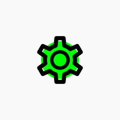technology icon logo green