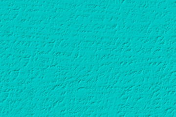 Teal or turquoise  blue wall  texture background
