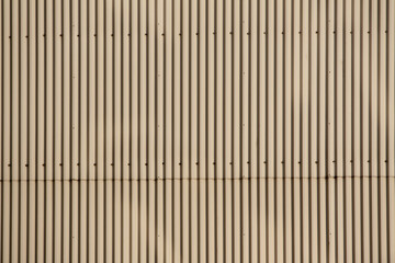 Ridged metal exterior