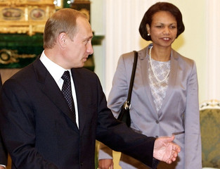 RUSSIAN PRESIDENT PUTIN MEETS U.S. NATIONAL SECURITY ADVISER RICE INMOSCOW.