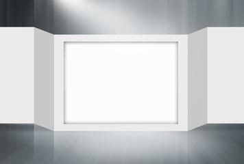 Empty 3D Folding Paper Frame