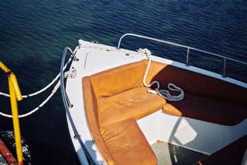 boat, soft seats, boat trip