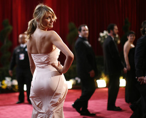 Cameron Diaz arrives at the 80th annual Academy Awards in Hollywood