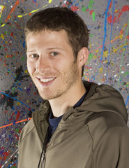 "Actor Zach Gilford poses for a portrait while promoting the film ""Dare"" during the Sundance Film Festival in Park City"