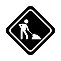under construction traffic signal icon vector illustration design
