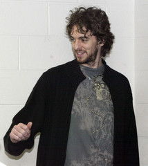 Pau Gasol speaks to the media prior to the Lakers NBA game against the Wizards in Washington