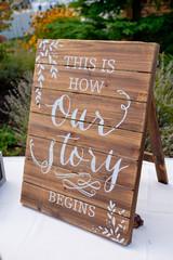 Wedding Reception Sign Decor