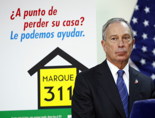Mayor Michael Bloomberg announces a plan encouraging homeowners to work with mortgage counselors and free legal assistance to avoid foreclosure, in New York