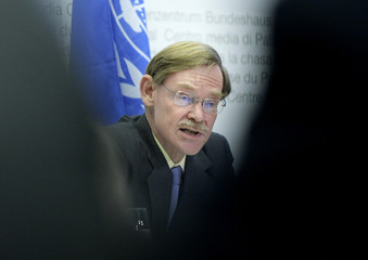World Bank President Zoellick speaks to media during a news conference in Bern