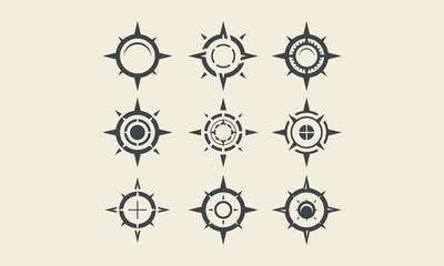compass logo symbols vector icon