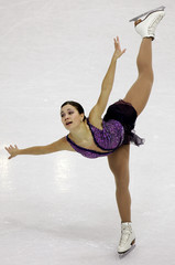 Finland's Susanna Poykio performs her women short programme competition of the European figure ...