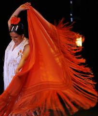 Flamenco dancer Eva Yerbabuena performs during the Jerez Flamenco Festival in southern Spain