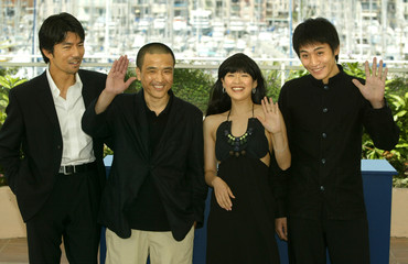 "CHINESE DIRECTOR LOU YE AND CAST FOR ""PURPLE BUTTERFLY"" AT 56THINTERNATIONAL FILM FESTIVAL IN CANNES."