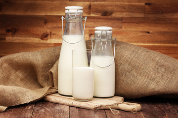 milk products - tasty healthy dairy products on a table