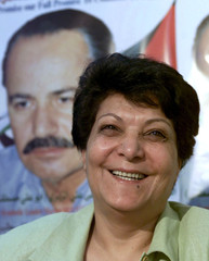 Laila Khaled, former Palestinian hijacker and member of the politburo of the Popular Front for the L..