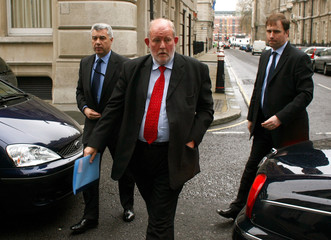 Britain's Home Secretary Clarke arrives at Eminent Jurists Panel meeting in London