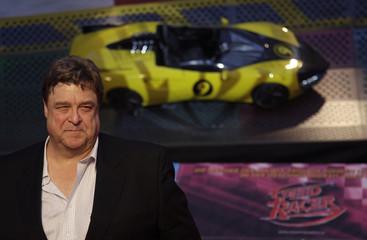 U.S. actor Goodman poses during the German premier of the movie 'Speed Racer' in Berlin