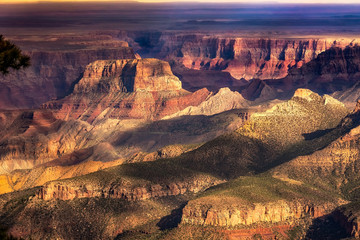 Sunset over the North Rim of the Grand Canyon