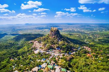 Mount Popa aerial view, Bagan, Myanmar (Burma).