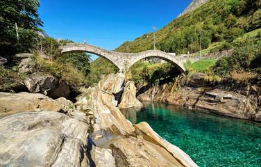 Lavertezzo Bridge Verzasca Valley