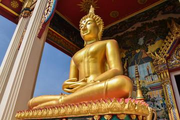 Golden Buddha statue in Ayutthaya,Thailand.