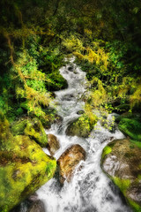 Waters Rushing Through Fiordland National Park
