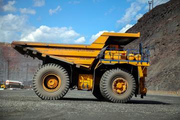 Huge mining haul truck.