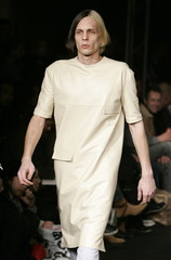 A model presents a creation from Austrian design house Wendy & Jim's 2006/07 Autumn/Winter fashion c..