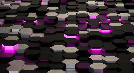 Abstract hi-tech hexagonal background