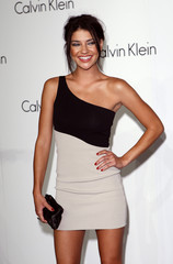Jessica Szohr arrives at the Calvin Klein 40th anniversary party in New York