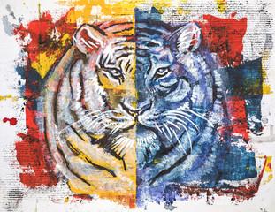 tiger, original acrylic painting