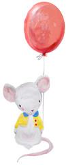 cute watercolor mouse
