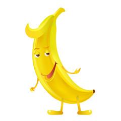 Banana. Banana character. Vector.