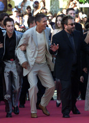 DIRECTOR LUC BESSON AND 'TAXI 2' CAST AT CANNES FILM FESTIVAL.