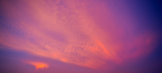 Sweet sky in the twilight time.