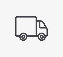 Truck Line Icon. Editable Stroke.