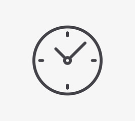 Clock Line Icon. Editable Stroke.