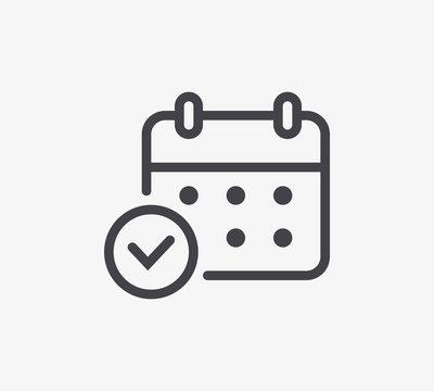 Calendar Line Icon. Editable Stroke.