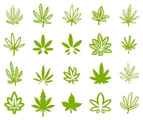 Cannabis leaf illustration symbol