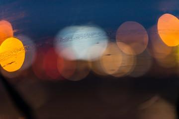 Blurry traffic lights