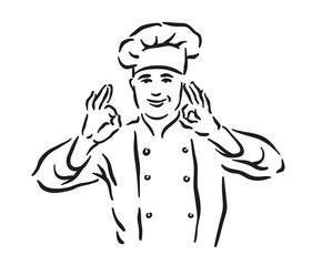 Chef portrait illustration