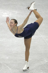 Meissner of US performs during women's free skating programme at World Figure Skating Championships in Gothenburg