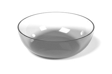 realistic 3d render of glass bowl