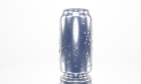 330ml beverage of background, 3d render