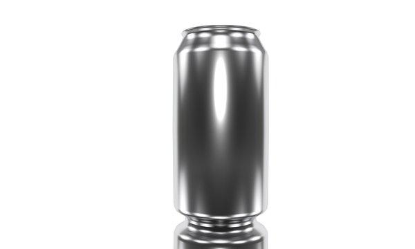 330ml beverage oon the white, 3d render