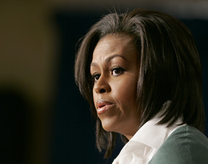 U.S. first lady Michelle Obama speaks at a health care event at the White House in Washington