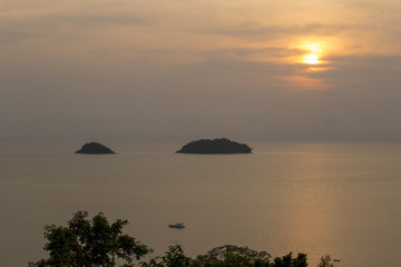 This image is a Koh Chang view point, Tart, Thailand