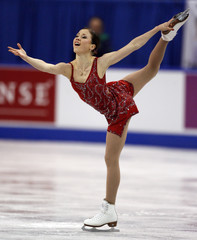 Laura Lepisto of Finland skates during the Skate Canada International figure skating event in Kitchener