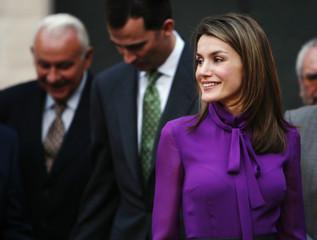 Spain's Crown Prince Felipe and his wife Princess Letizia visit Seville