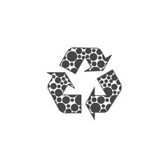 Vector recycle symbol, icon, logo